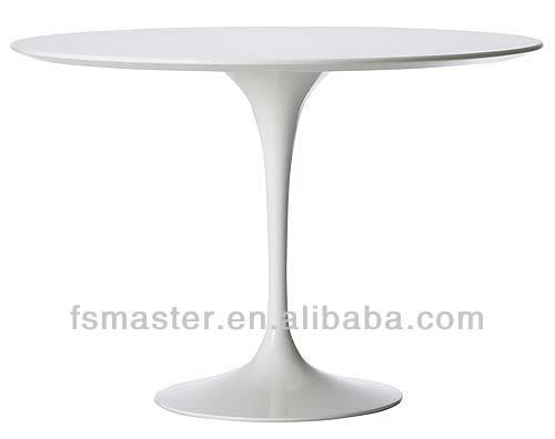 Estilo europeu moderno de fibra de vidro tulipa round / oval de jantar projetado por Eero Saarinen