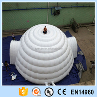 China factory price Durable Big inflatable tent white Customized Advertising air dome tent