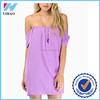 New 2015 fashion ladies clothing Slit neckline tube top short sleeve lining solid color chiffon casual dress