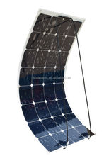 Boat Solar Panel Kit Sun power Solar Cell, Semi-flexible Mono 100W Lightweight with Top Quality
