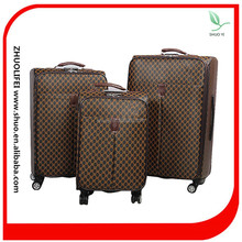 unique pu material a set of 4 wheel travelmate luggage, soft travel luggage case