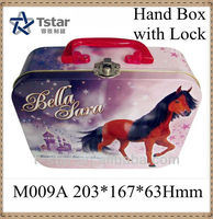 tin lunch box with handle, wholesale lunch tin box