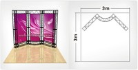 Wholesales Exhibition Truss Booth 3x3 for Indoor or Outdoor Use