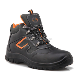 (pu pu safety shoes)breathable tongue with orange comfort fur lining /steel toe anti static safety shoes