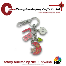 Custom metal name keychain/metal keyring