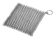 chainmail cast iron pan scrubber,chain link cleaner
