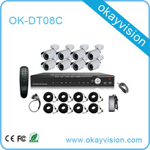 Okayvision 720P/960H High Definition 8CH AHD DVR Kit With Bullet Dome Camera