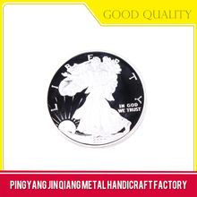 Plated technique brass enamel great wall of china coin