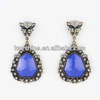 Spring new coming mini leopard head graceful crystal earrings designs