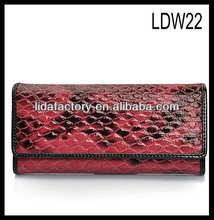 2013 Most popular leather men wallet, zipper coin pocket design purse