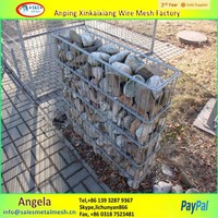 hot sales pvc coated gabion basket , wall gabions , gabion box prices made in china