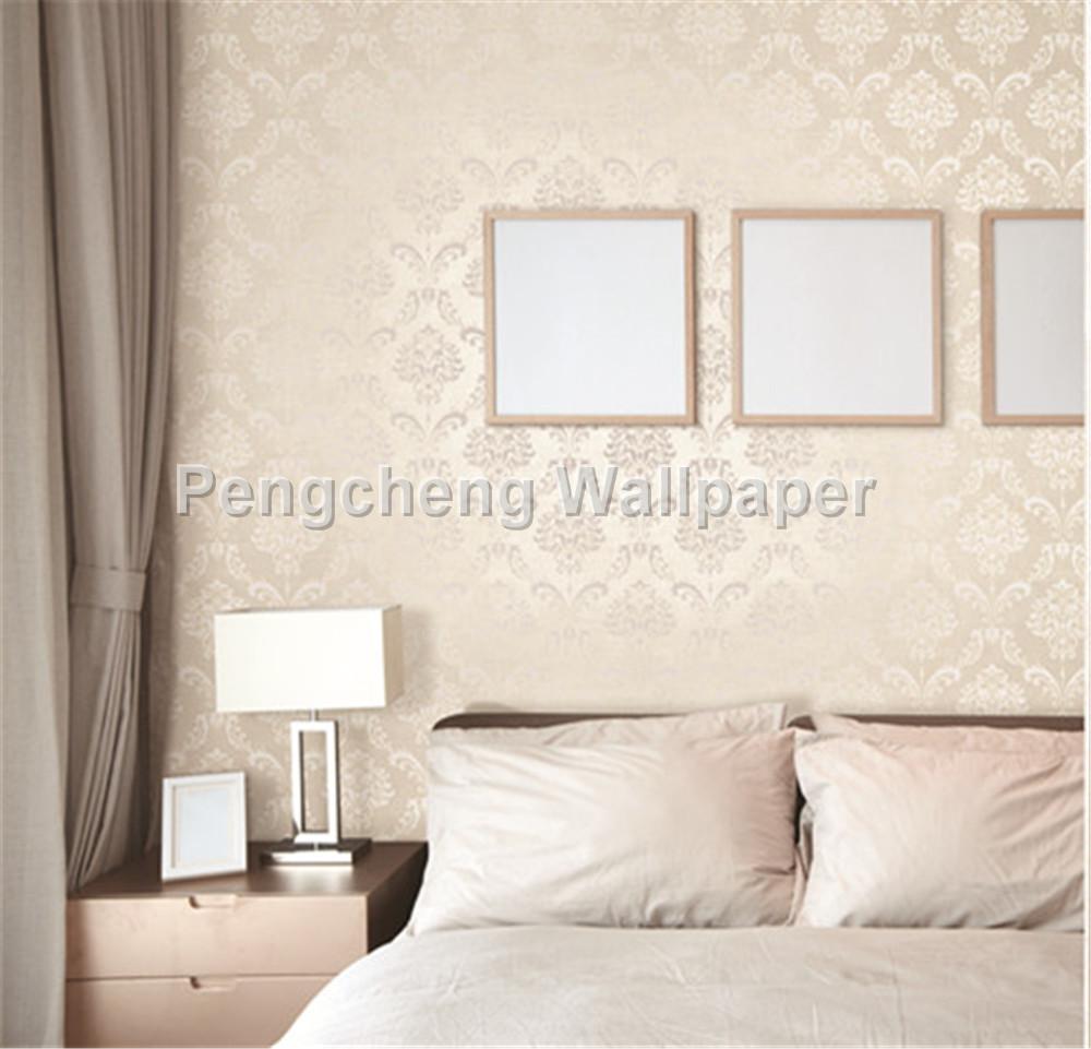 Domask flower design carta da parati per camera da letto hotel ...