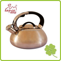 New design stainless steel whistle kettle 3.0L with cooper coating