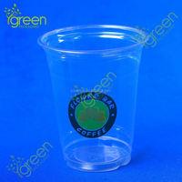 PET pint tumbler glass clear transparent disposable plastic cup