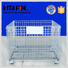 Warehouse Galvanizing Folding Collapsible Storage Wire Mesh Pallet cage