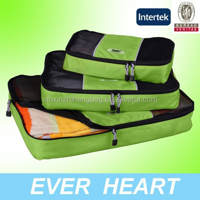 2015 3 in 1 Travel packing cubes in Xiamen alibaba China