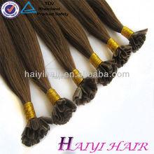 human hair 100% high quality u tip hair keratin chinese hair