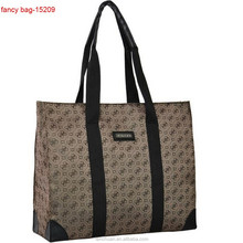 Woven Handle Polyester Brand Luxury Shopping Bag