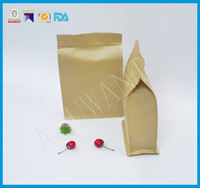 custom one-way valve foil flat bottom box coffee pouch bags manufacturer
