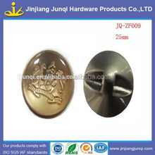 25m round one hole smooth metal sew button garment accessories