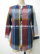 2015 nuevo diseño simple para mujer blusa de la gasa
