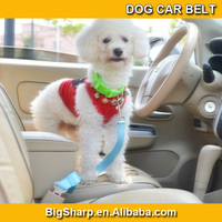 100pcs quality New colourful 7 Color Pet Dog Car Travel Safety Seats Belt Clip Leash Belt easy to take your dog for trip CB-2501