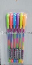 Multicolor gel ink Pen With EN71 And ASTM Certificate