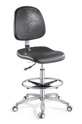 durable polyurethane swivel lab stool
