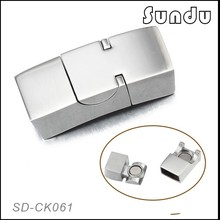 Jewelry findings components stainless steel flat magnetic clasp 11mm