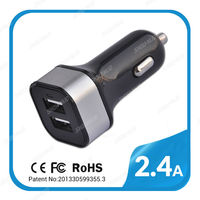 commonly used high speed 2 port usb portable charger adapter with mini cable