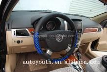 DSC0644 Uniersal hand leather sewing car steering wheel