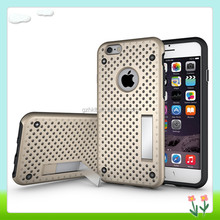 Dual Layer Defender Protective Net Mobile Phone Case For iPhone 6s Heat Radiation Function Cover Case For iPhone 6s