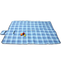 High Quality Portable Picnic Blanket Mat Waterproof Fleece Rug Travel Camping Caravan Outdoor Supply 1.5x2m