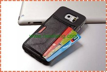 Card Slot TPU PU Leather Case for Samsung Galaxy S6 Edge G9250, Back Cover Case for Samsung Galaxy S6 Edge G9250