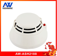 Home use addressable fire alarm system 2 wire connect with smoke detector and heat detector