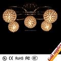 Fantasía home hotel vestíbulo grande lámpara de la bola y colgante / la iluminación llevada