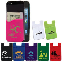 different colors durable cell phone case card holder customized silicon card holder