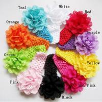 Classic little girl make fabric flower headband