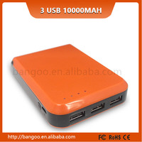 Professional factory supply trendy style USB mobile power 10400Mah with LED light