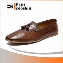 gli uomini di pelle ufficio scarpe nappa uomini coccodrillo senza lacci scarpe casual