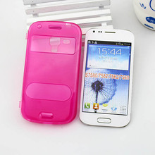 new product wire drawing case flip cover for samsung galaxy trend plus s7580