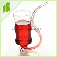 Promotion Wholesales 2015 borosilicate cut glass wine bottles & Handmade craft Empty 350ml crystal red wine glass bottle