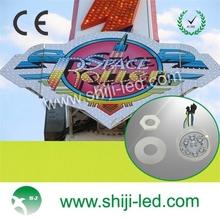 45mm full color cabochon rgb led lights for amusement waterproof ip66