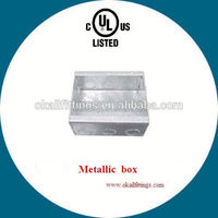BS4662 Wiring Duct 3 Gang Galvanized Steel Knockout Box