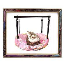 UW-PB-0022 2012 New design pink 100% cotton pet hammock bed pad