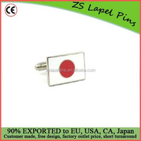 Personalized engraved logo China factory Japanese Flag Cufflinks
