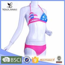 Factory Supplier Fantasy Hot Girl OEM Usa Flag Bikini