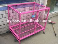 Double dog cage with wheels
