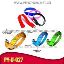 PVC printable bracelet usb - 2012 new Christmas gift