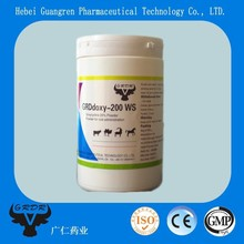 Veterinary Doxycyclin Hyclate Soluble Powder 20% for poultry/pig/cattle antibacterial/anti-inflammatory drug